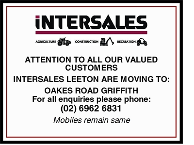 Exciting News - Intersales Leeton is MOVING